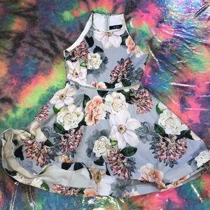 AKIRA CHICAGO Floral Skater Dress